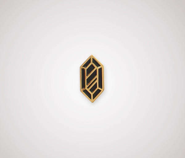 Rupee Pin - Gold & Black