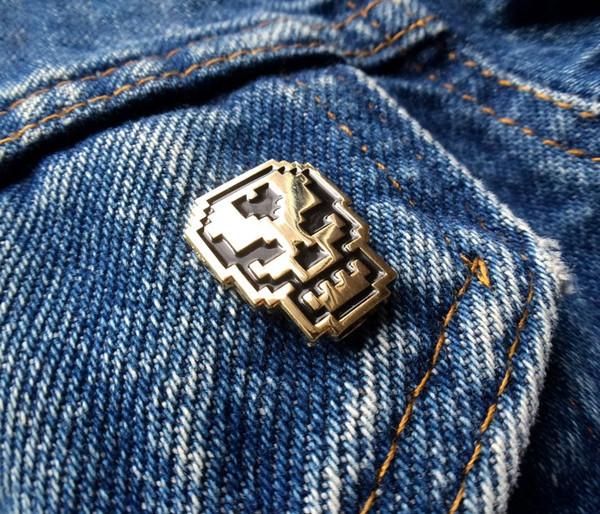 8-Bit Skull Pin