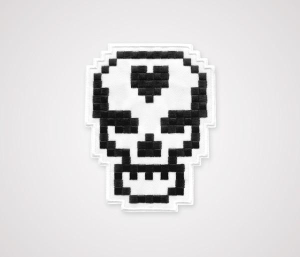 8-Bit Skull Patch