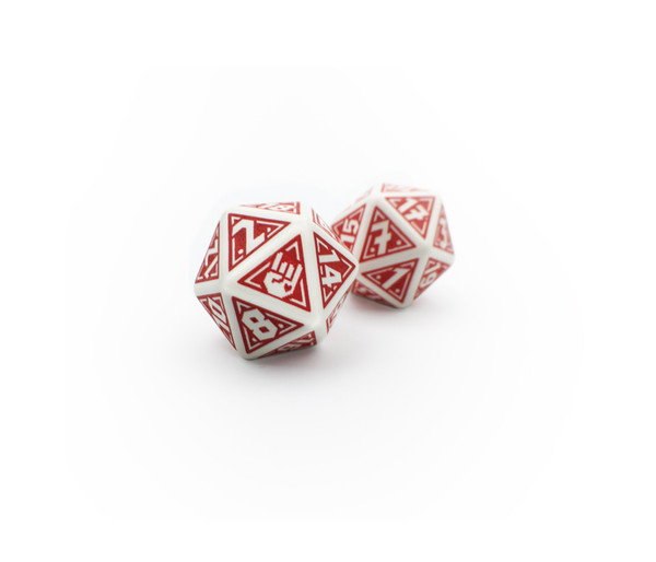 Red/White D20's (2pc)