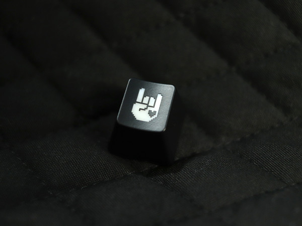 Black & Transparent Rockhart Keycap