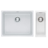 Franke Kubus Fragranite Undermount Large Bowl (11050) + Kubus Fragranite Undermount Small Bowl (11016) Complete with templates - clips and waste
