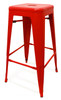 Set of 2 Oslo Bar Stools Red