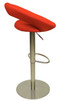 Deluxe Sorrento Kitchen Brushed Bar Stool Red