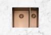 Caple MODE3415/R/CO Copper One + Half Bowl Kitchen Sink