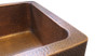 Eclectica Mayenne Single Bowl Copper Kitchen Sink