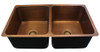 Eclectica Montpellier Double Bowl Copper Kitchen Sink