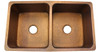 Eclectica Montpellier Double Bowl Copper Kitchen Sink