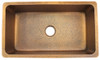 Eclectica Toulouse Single Bowl Copper Kitchen Sink