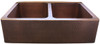 Eclectica Bordeaux Double Bowl Copper Kitchen Sink
