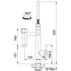Franke Vital Capsule 3-in-1 Filter Tap - Semi-Pro