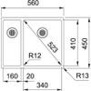 Franke Box BXX 160 34-16 1.5B Undermount Sink - Stainless Steel