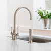 Perrin & Rowe Phoenician 4360 (with Rinse) Kitchen Tap - Pewter