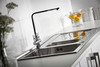 Abode Ixis One and a Half Bowl & Drainer Large Sink in Stainless Steel Sink