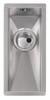 Abode Matrix R0 Single Half Bowl in Stainless Steel Sink