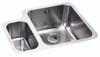 Abode Matrix R50 1.5 Bowl RH Main Bowl in Stainless Steel Sink