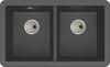 Abode Matrix SQ GR15 2.0 Bowl Undermount in Black Metallic Sink