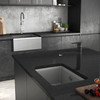 Abode Denton Single Bowl in Grey Metallic Granite Sink
