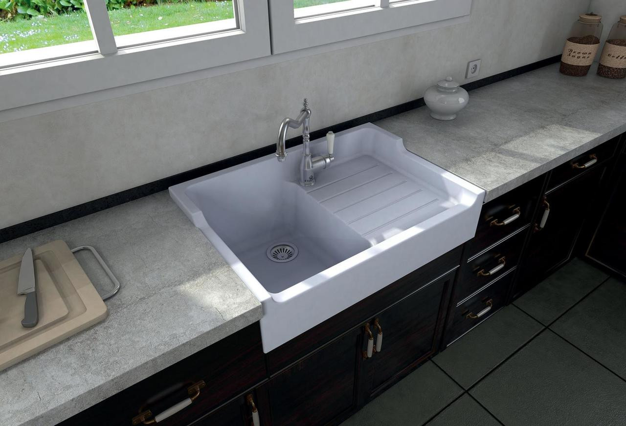 Chambord Francois I White Ceramic Kitchen Sink