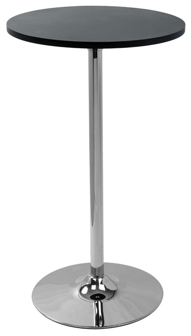 Fabulous Como Poseur Table Round Black Wood Machost Co Dining Chair Design Ideas Machostcouk