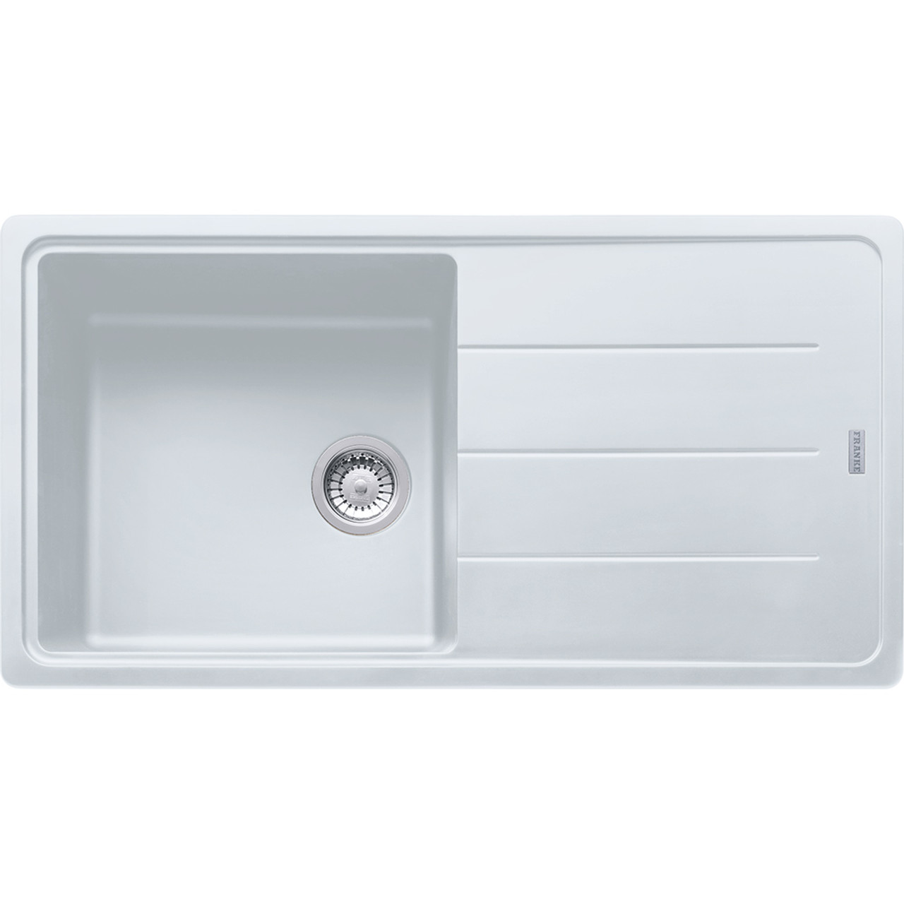 Franke basis bfg611 970 fragranite polar white kitchen sink