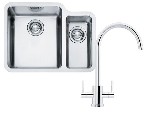 Franke Kubus KBX160 34-16 Kitchen Sink with Krios J Tap Pack