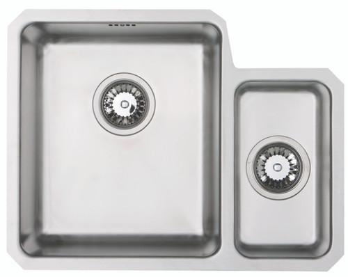 Brass & Traditional Camborne Stainless Steel One + Half Bowl Undermount Sink