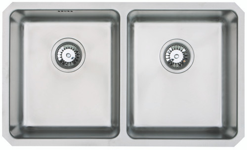 Brass & Traditional Penzance Stainless Steel Double Bowl Undermount Sink