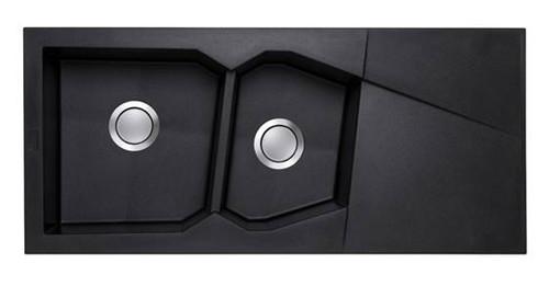 Brass & Traditional Lodi Granite Composite One + Half Bowl Inset Sink