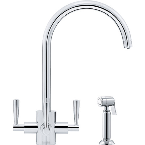 Franke Olympus Filterflow with Handspray Complete with filter housing Chrome 120.0184.896
