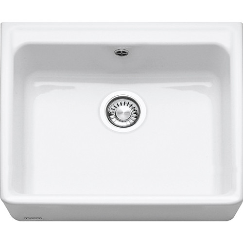 Franke VBK Ceramic Belfast Sink Single Bowl Complete with waste White 130.0049.875