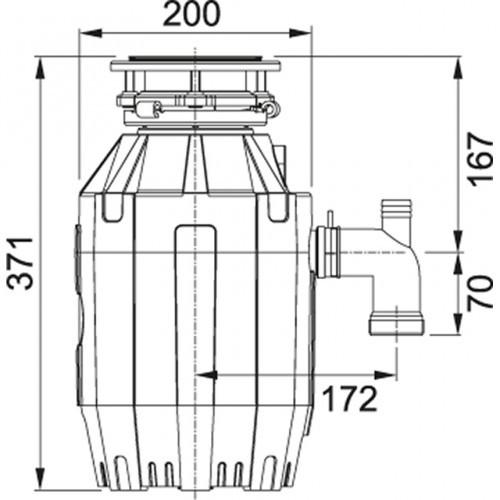 Franke Turbo Elite TE-75 Waste Disposer