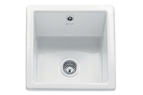Caple CSQB White Square Bowl Sink