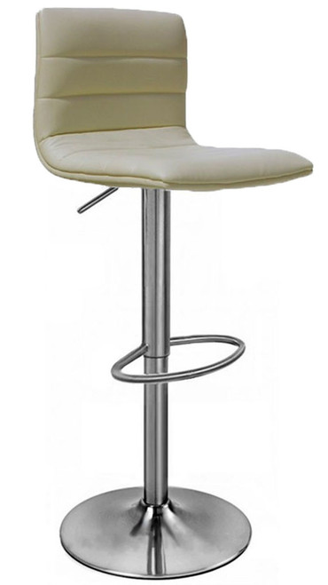 Aldo Brushed Bar Stool Cream