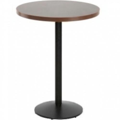Fiero Poseur Table Round - Walnut Ash