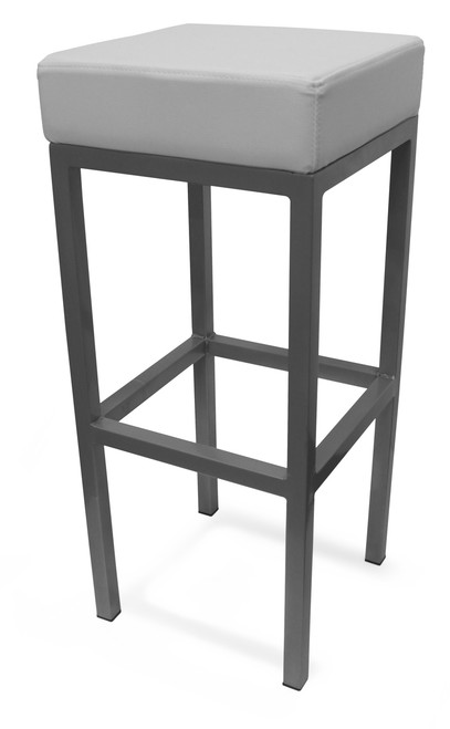 Cube Bar Stool White