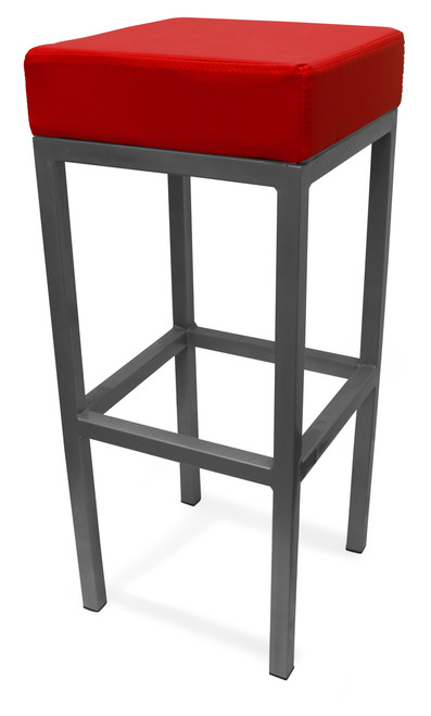 Cube Bar Stool Red