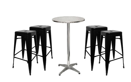 Oslo Bar Stool and London Table Package