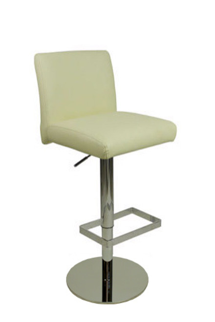 Deluxe Snella Leather Bar Stool Cream