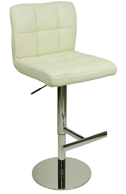 Deluxe Allegro Leather Bar Stool White