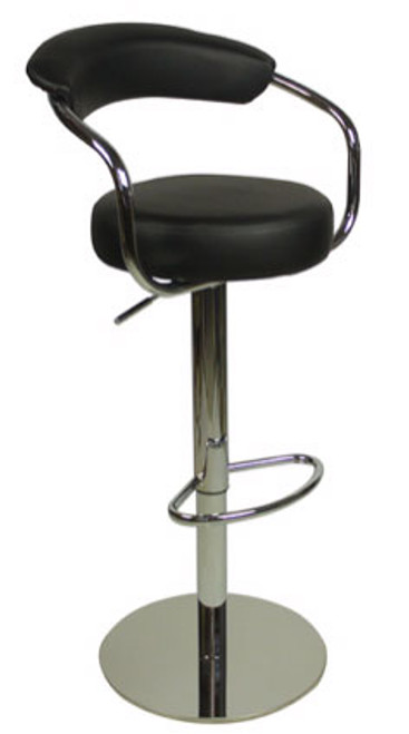 Deluxe Zenith Bar Stool Black