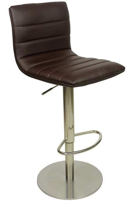 Deluxe Aldo Brushed Bar Stool Brown
