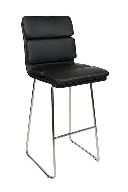 Moderno Fixed Height Curved Bar Stools Black
