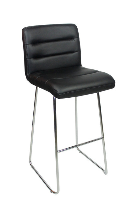 Luscious Fixed Height Curved Bar Stools Black