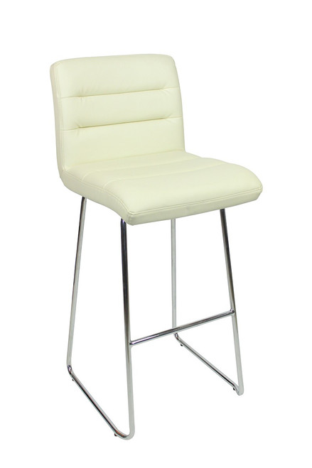 Luscious Fixed Height Curved Bar Stools Cream
