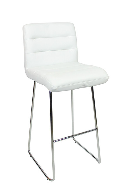 Luscious Fixed Height Curved Bar Stools White