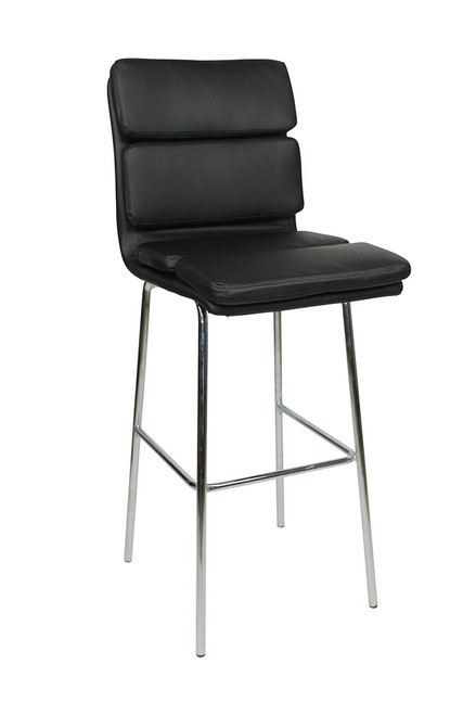 Moderno Fixed Height Bar Stools Black