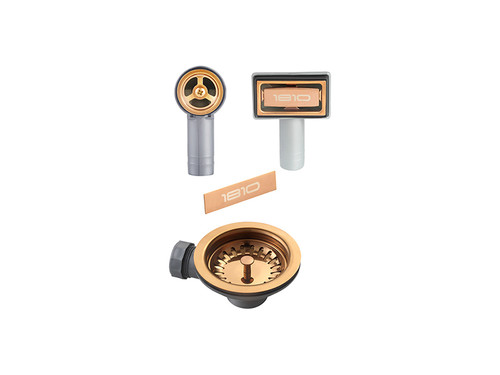1810 Waste Kit For Single Bowl Sink - Copper
