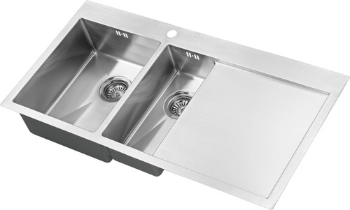 1810 Zenduo15 6 I-F BBL One + Half Bowl with Drainer Kitchen Sink