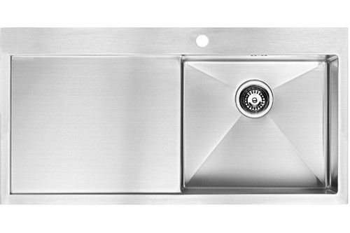 1810 Zenuno15 5 I-F BBR Single Bowl Kitchen Sink With Drainer